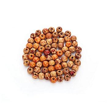 Indio-Holzperlen, rund, 1 cm Ø, 70 Stück