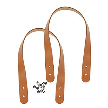 Anses de sac 'Miyako', chamois, en cuir véritable