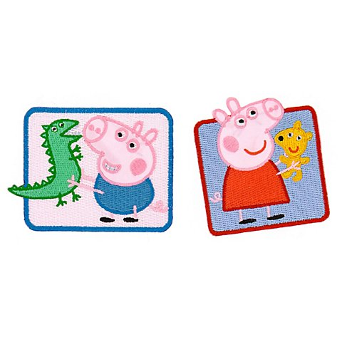 "Image of Applikationen ""Peppa Pig®"", Grösse: 6&ndash_8 cm, Inhalt: 2 Stück"