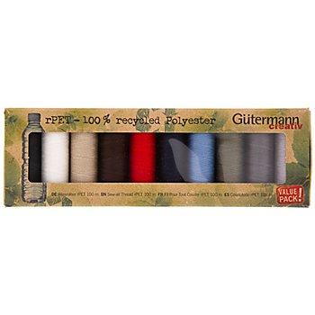 Gütermann Allesnäher-Set rPET 'Grundfarben', 10x 100 m