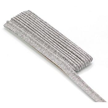 buttinette Jersey-Paspelband, hellgrau, 3 mm Ø, 3 m