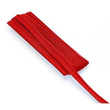 buttinette Passepoil en jersey, rouge, 3 mm Ø, 3 m
