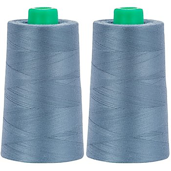 Set de fil pour surjeteuse, bleu jeans, 2 bobines, grosseur : 120, 5000 m