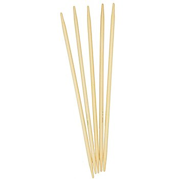 buttinette Strumpfstricknadeln, Bambus, 24 cm