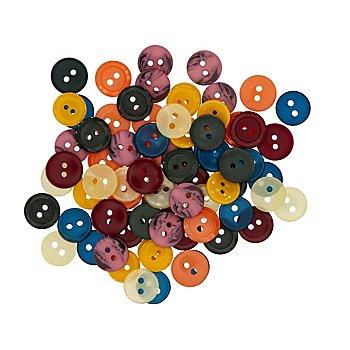 buttinette Boutons pour chemises et blouses, 10 - 12 mm Ø, 70 pièces