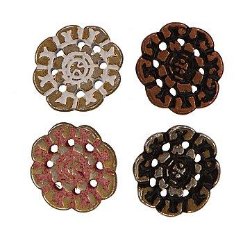 buttinette Blumenknöpfe, 19 mm Ø, 40 Stück