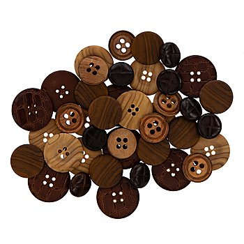 buttinette Leder- und Holzimitatknöpfe, Größe: 15–25 mm Ø, Inhalt: 40 Stück