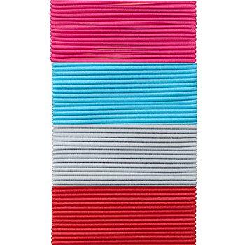 buttinette Elastik-Kordel-Paket 'schmal', 1,5 mm Ø, 4x 3 m