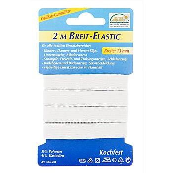 Gummiband 'Breit-Elastic', weiss, Breite: 13 mm, 2 m