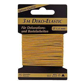 Elastik-Kordel 'Deko-Elastic', gold, Stärke: 1,6 mm, 3 m