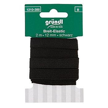 Gummiband 'Breit-Elastik', schwarz, Breite: 12 mm, 2 m