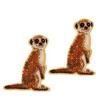 buttinette Applications 'suricates', 6,3 x 5,2 cm, 2 pièces