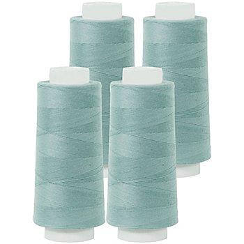 buttinette Set éco de fil pour surjeteuse, menthe, 4 bobines, grosseur : 120, 2500 m