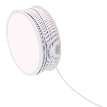 Elastique cordon, blanc, 2 mm, 10 m