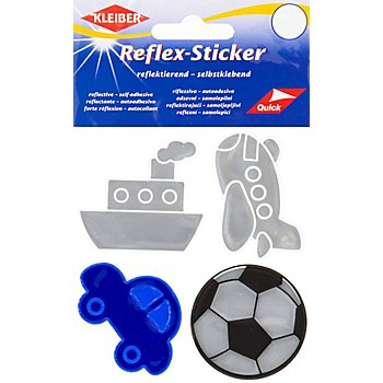 Kleiber Stickers réfléchissants 'voyages', 3,5  - 5 cm, 4 pièces