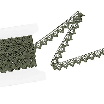 Galon de dentelle aux fuseaux, sapin, largeur 2 cm, longueur 5 m