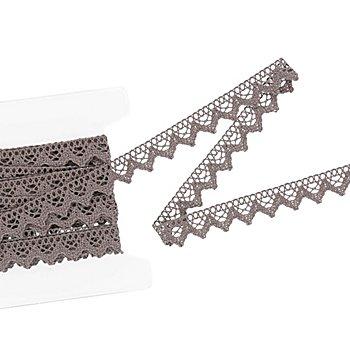 Galon de dentelle aux fuseaux, graphite, largeur 2 cm, longueur 5 m