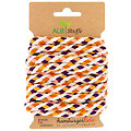 "Albstoffe Cordon en coton bio ""Twist Me Big"", violet/moutarde/corail/orange/crème, 3 m"