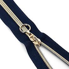 buttinette Reißverschluss, dunkelblau, nicht teilbar, Länge: 25 cm