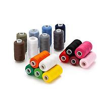 Set éco de fil à coudre, multicolore, 500 m par bobine, contenu : 18 pièces