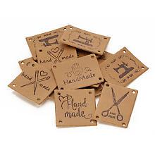 Étiquettes 'couture handmade', 15 pièces