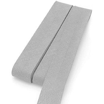 Baumwoll-Schrägband, stein, Breite: 2 cm, Länge: 5 m