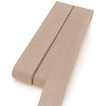 Baumwoll-Schrägband, toffee, Breite: 2 cm, Länge: 5 m