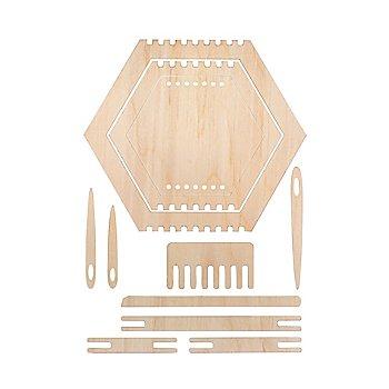 Holz Webrahmen-Set 'Wabe', natur