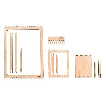 Set cadre à tisser en bois, nature