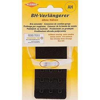 Kleiber rallonge soutien-gorge, noir, 3 x 3 crochets, largeur : 40 mm