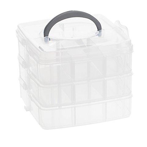 Image of buttinette Sortierbox, Grösse: 16 x 15,5 x 12,5 cm