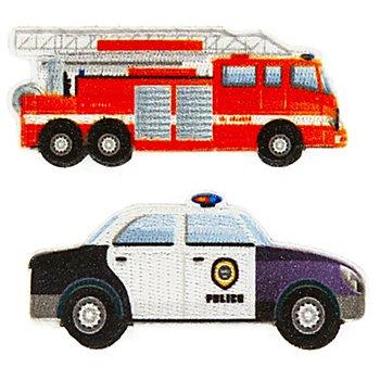 buttinette Écussons 'véhicules de service', 2,6–7 cm, 2 pièces