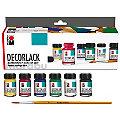 Marabu Dekorlack-Set, glänzend, 6x 15 ml