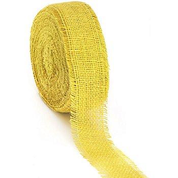 Rupfenband, gelb, 6 cm, 25 Meter