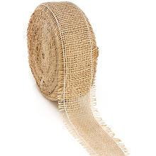 Rupfenband, natur, 6 cm, 25 Meter