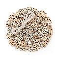 """Perles en forme de dé """"alphabet"""", 8 x 8 x 8 mm, 300 pièces"""
