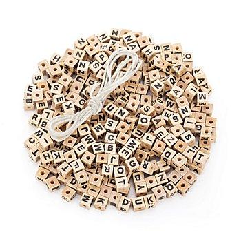 Perles en forme de dé 'alphabet', 8 x 8 x 8 mm, 300 pièces