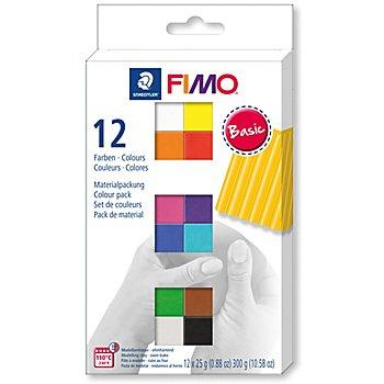 FIMO Soft Set de pâte à modeler 'couleurs primaires', 12 couleurs