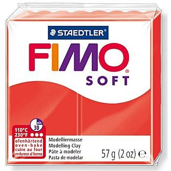 FIMO Soft Pâte à modeler, rouge, 57 g