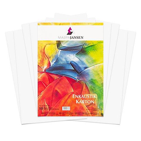 Image of Encaustic-Karton, weiss, DIN A4, 10 Blatt