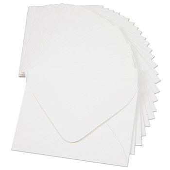 Mini-enveloppes, blanc, 57 x 71 mm, 25 pièces