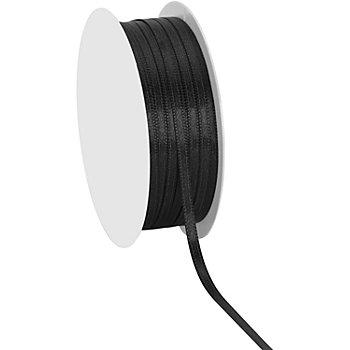Satinband, schwarz, 3 mm, 20 m