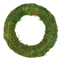 Couronne de mousse séchée, 30 cm Ø
