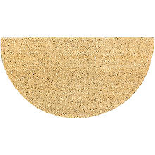 Kokos-Fußmatte 'Halbrund', 40 x 75 cm
