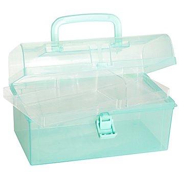 buttinette Boîte de rangement en plastique, 23 x 13 x 13 cm