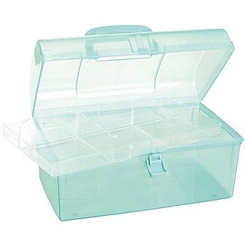 buttinette Boîte de rangement en plastique, 28 x 16 x 15 cm