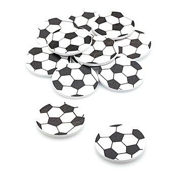 Ballons de foot déco en bois, 3,5 cm, 12 pcs.