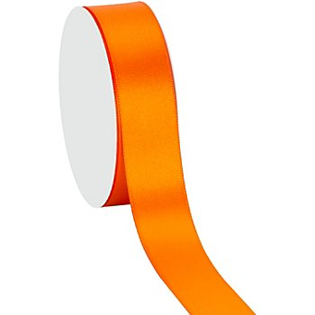 Satinband, orange, 25 mm, 10 m