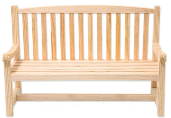 Dekobank Aus Holz 30 X 12 X 20 Cm