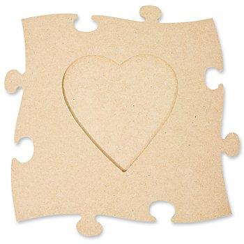 MDF-Puzzle-Bilderrahmen 'Herz', 24 x 24 cm